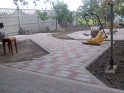 Тротуарная плитка,  услуги по укладке