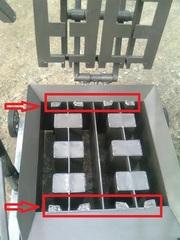 Станок  для  производства  шлакоблоков
