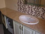 Столешница мраморная,  столик в ванную из мрамора