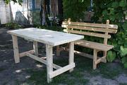 стіл садовий з дерева