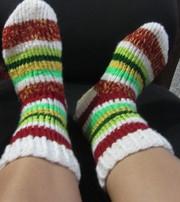 Вязаные шерстяные носки р.37