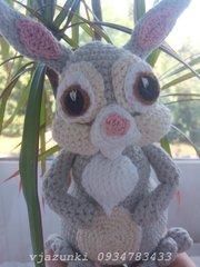 Вязанная зайчиха Hand Made